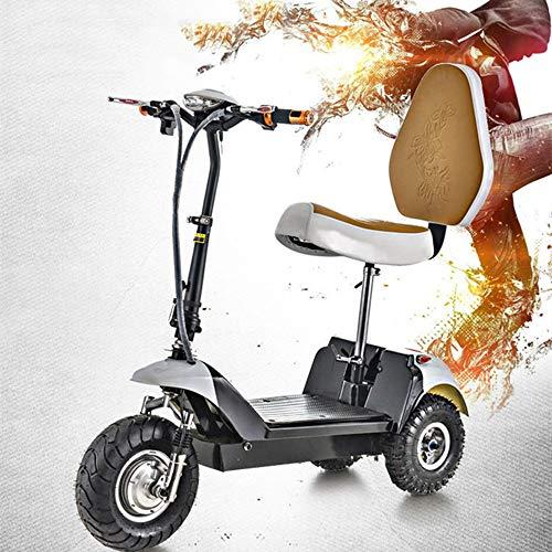 Hebbp1 Mini Dreirad Elektrofahrzeug, Erwachsene Falten Tragbares Elektrofahrrad, 48 V Lithium-Batterie Steuer Fahrrad (kann Widerstehen 120 KG)