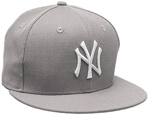 New Era Herren Caps / Fitted Cap MLB Basic NY Yankees 59Fifty grau 7 7/8 - 62,5cm
