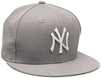 New Era 10003438 NEW YORK YANKEES Chapeau pour Homme, Gris,6 7/8