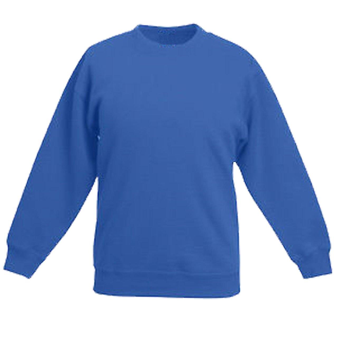 School Uniform Sweatshirt Pullover Fleece Jumper Plain: Amazon.co ...