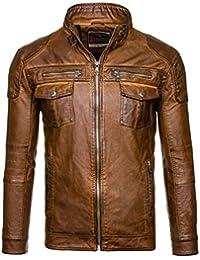 BOLF - Veste - Faux cuir - Fermeture éclair – EXTREME EX282 – Homme
