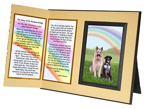 Pet Lover Erinnerung Geschenk, Rainbow Bridge Gedenk Pet Gedicht, Verlust Bilderrahmen Andenken und Mitgefühl Geschenk-Paket -