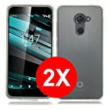 TBOC 2X Transparent Gel TPU Hülle für Vodafone Smart Platinum 7 (5.5 Zoll) [Pack: Zwei Einheiten] Ultradünn Flexibel Silikonhülle