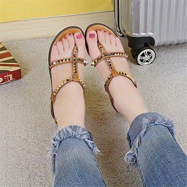 LvYuan Femme Sandales Nouveauté Chaussures formelles Similicuir Eté Décontracté Habillé Soirée & Evénement Nouveauté Chaussures formellesTalon Yellow