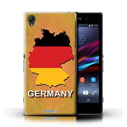 Kobalt® Imprimé Etui / Coque pour Sony Xperia Z1 / Amérique/Américain/USA conception / Série Drapeau Pays Allemagne/Allemand