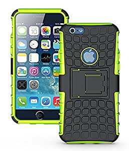 Kingo® Heavy Duty Iphone 6 Case Armor Dual Layer 2 in 1 Rugged Rubber Hybrid Hard Iphone 6s Case (Green)