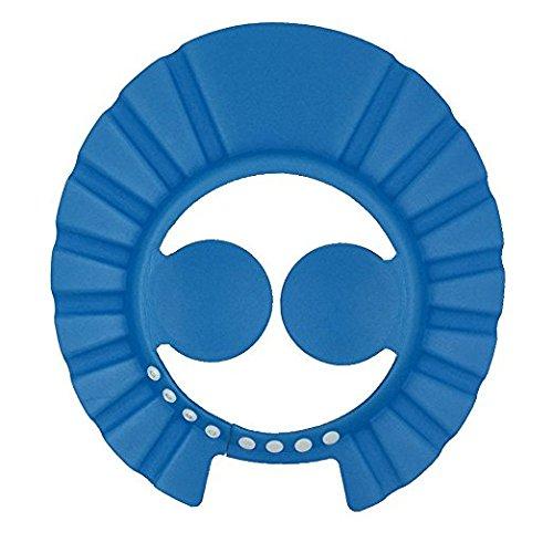 Preisvergleich Produktbild ibepro Baby Dusche Cap mit Ohr Schutz Pads bequemer Verstellbarer Soft Shampoo Dusche Badekappe für Baby Kinder Kinder