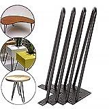 4 Stück Haarnadel Tischbeine Metall Tischgestell Tischkufen Haarnadelbeine Möbelbein Austauschbare Möbelfüße für Esstisch Cou