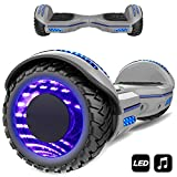 Markboard 6,5 Zoll Hoverboard self banlance Scooter mit LED Motorbeleuchtung 700W Motorleistung Offroad Reifen Elektro Self Balance Scooter Hover, E-Board