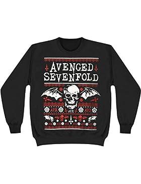 AVENGED SEVENFOLD - deathbat Navidad - Oficial Caballeros Suéter (Suéter)