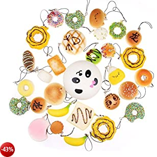 NUOLUX Mini pane Squishy profumato Kawaii Mini cibi morbidi Squishy 12PCS (come illustrato)