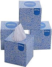 Kleenex Facial Tissue, Cube Tissue Box, 2 Ply, 80 soft tissues per box, 4 Box Combo (320 tissues)-60042