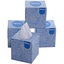 Kleenex Facial Tissue, Cube Tissue Box, 2 Ply, 80 soft tissues per box, 4 Box Combo (320 tissues)-60042