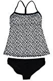 Nike Tankini 2-Piece Tie Back Badeanzug Wei? / Teal / Schwarz (Klein)
