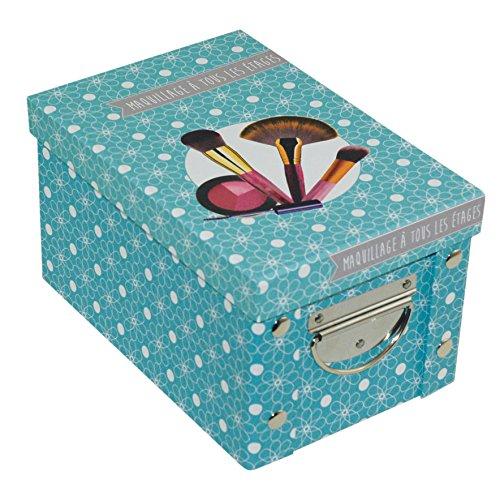 Incidence Paris 42551 Adekuat Boîte Maquillage Carton Bleu 23,5 x 15,6 x 14 cm