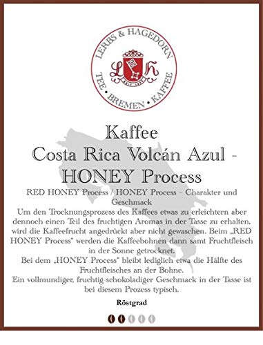 Costa Rica Volcán Azul - HONEY Process Kaffee 1kg