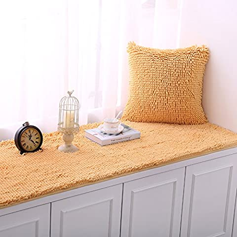 New day®-Thickened chenille plush non - slip floating window pad sill mat , 70*210cm