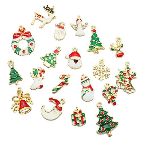 Ciondoli per Bracciali Fai Da TeGosear 19 pz Lega Natale Ciondolo Ornamenti Fascino Per Fai Collana Bracciale Gioielli Natale Mestiere Accessori