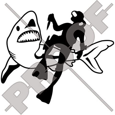Frogman & Shark Scuba Diver Jaws 6,7