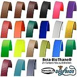 Biothane® Beta Sangle 25couleurs et jusqu'à 8largeurs au choix