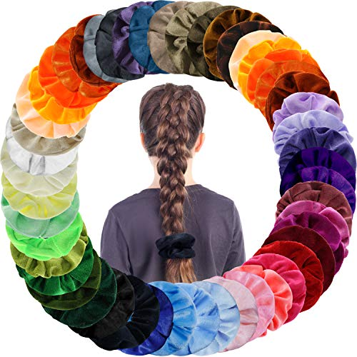 Songwin 50 colori capelli scrunchies,elastico in velluto scrunchies velluto elastico fasce per capelli per le donne ragazze