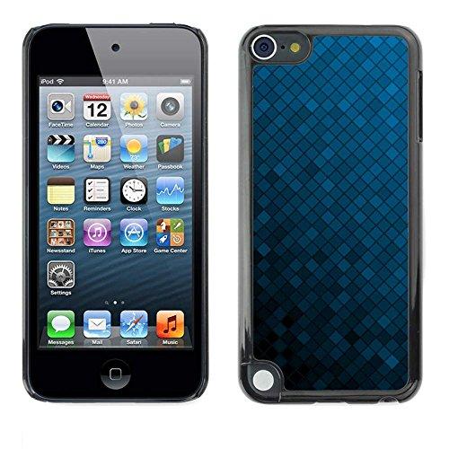 GREAT PHONE CASE GIFT // Cassa del Telefono mobile Custodia Rigida PC Coperchio decorativo Caso / Hard Case for Apple iPod Touch 5 /Struttura blu Cubi/Texture Blue Cubes