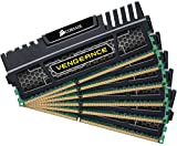 Corsair CMZ24GX3M6A1600C9 Vengeance 24GB (6x4GB) DDR3 1600 Mhz CL9 XMP Performance Desktop Memory Kit Black