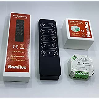 Set Kamilux Super Funk-LED Dimmer inkl. Funk-Fernbedienung max.400 Watt 8 - 230Volt Steuerspannung für dimmbare LED Leuchtmittel