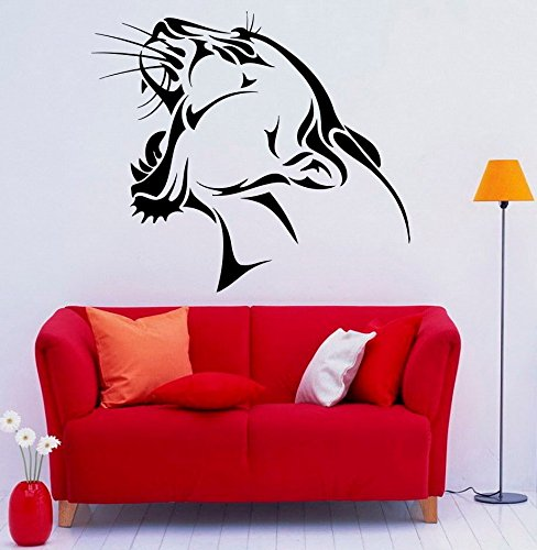 Preisvergleich Produktbild 43SabrinaGill Panther Wand Aufkleber Vinyl Aufkleber Wild Beast Predator Art Innen Schlafzimmer Abnehmbare Home Decor 55, 9 x 71, 1 cm