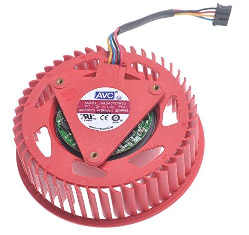 BASA0725R2U 12V 1.2A Grafikkartenlüfter For HD4850 HD4870 HD4890 HD 4980 HD5870 HD5970...