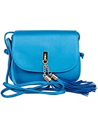 Mei&ge PU / Synthetic Leather Stylish Sling Bag / Purse For Women & Girls Color - Shimmery Blue 1225