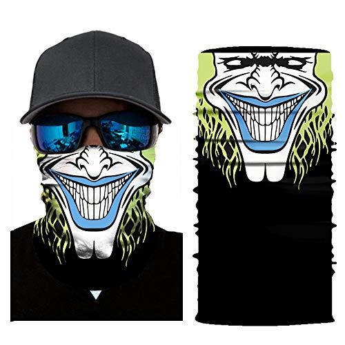 (Colorful Multifunktionstuch aus Mikrofaser Schlauchtuch Sturmhaube Bandana Gesichtsmaske Halstuch Ski Motorrad Halloween Maske (E))