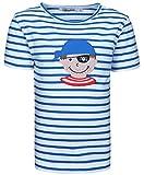 zoolaboo T-Shirt Jungen Pirat PEPPE, Gestreift in Weiß/Blau, Größe 104