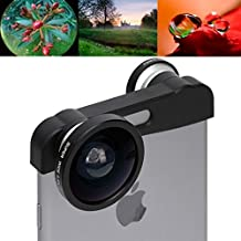iPhone 6 Plus 3 en 1 Super Wide 0.4X + Macro + 180 Degres Fisheye Phone Photo Zoom Lens Set