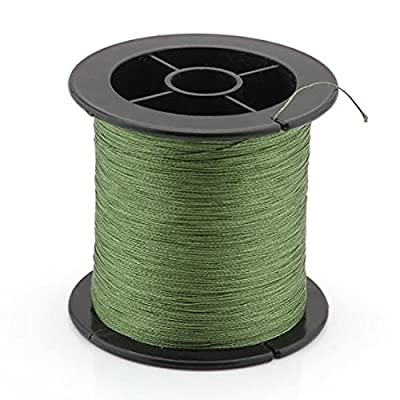 ELENXS Good Abrasion Strong Spool Braid Braided Fishing Fish Line 200M 12Lb Dark Green from HOOBO