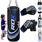 RDX kinder Boxsack Set Gefüllt Kickboxen MMA Kampfsport Muay Thai Boxen mit kette Training Handschuhe Kampfsport Schwer Junior 2FT Punching