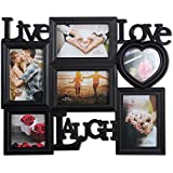 Art Street Live Love Laugh Photo Frame Collage (Set Of 6) (Photo Size- 4x4, 4x6)