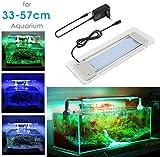 BELLALICHT Aquarium LED Beleuchtung, Aquariumbeleuchtung Lampe aus Aluminium Acrylglas Weiß Blau Rot Grün mit Befestigungsklammer für 33cm-57cm Aquarium