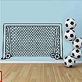 Mrhxly Fußball Fußball Tor Net Ball Sport Wandtattoo Vinyl Dekor Kunst Wandaufkleber Für Jungen Kinder Kindergarten Wohnkultur Wandbild 92 * 50 Cm