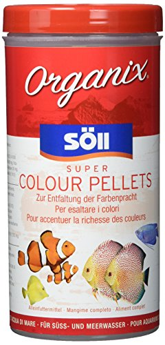 Söll 16232 Organix Super Colour Pellets - Aquariumfutter - Zierfischfutter - Pelletfutter - 490 ml