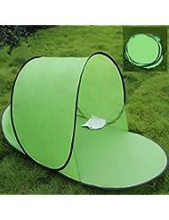 CAMTOA - Tienda de campaña instantánea (ultraligera, resistencia a rayos UV, resistente al viento y al sol), color verde