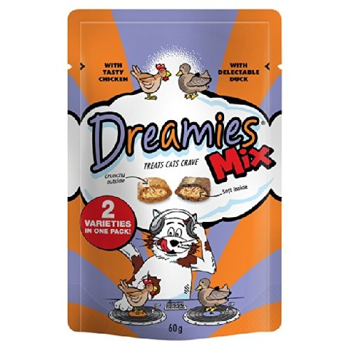 Dreamies Mix Huhn & Ente Katzen-Leckerli 60g