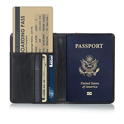 Travel Kreditkarte Boarding Pass Inhaber Passport Schutzhülle Wallet Case Schwarz (Flugtickets, Reisepass Case)