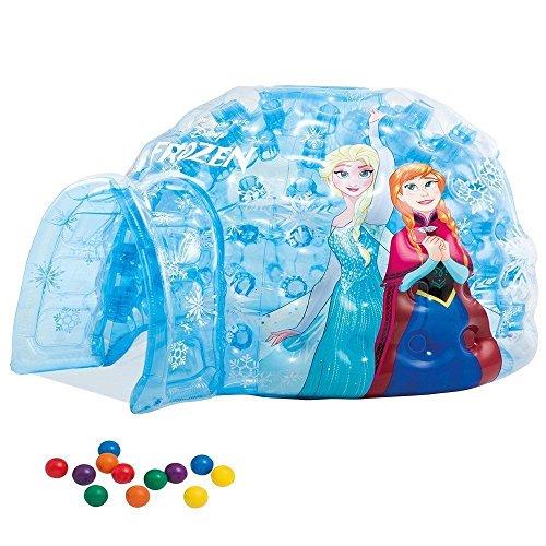 Casetta gonfiabile piscina con palline iglo frozen intex 187x157x107 48670