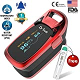 Dr Trust(USA) Professional Series Finger Tip Pulse Oximeter with Audio Visual Alarm and Respiratory Rate (Red)