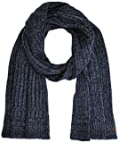 TOM TAILOR Herren Schal neps Scarf, Blau (Dark Zone Blue Melange 6465), One Size