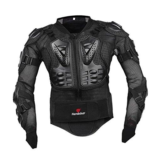 non-brand Sharplace Wasserdicht Winddicht Motorrad Jacke Motorradjacke Protektor Hemd Brustschutz Schutzjacke - Schwarz - Schwarz - S