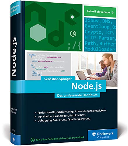 Node.js: Das umfassende Handbuch. Serverseitige Web-Applikationen mit JavaScript entwickeln Buch-Cover
