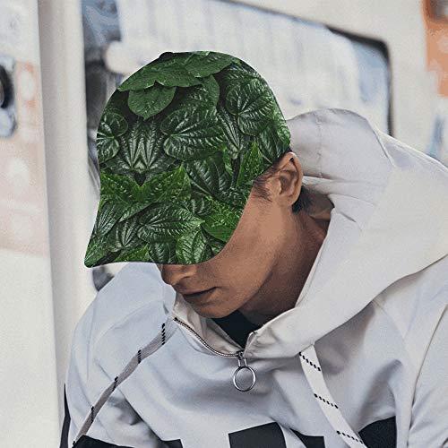 Kreative Tropische grüne Blätter Layout einstellbar Baseball Cap Print Baseball Mütze Papa Hut 100% Baumwolle weich passt Männer Frauen Unisex Hip-Hop Sport Sommer Strand Aktivitäten -