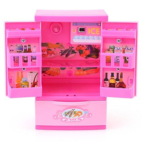 Refrigerador de Cocina Artificial Rosa Mini Frigorífico...